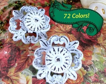Drawer Pull Knob Shabby Chic Cast Iron Scroll in Distressed White