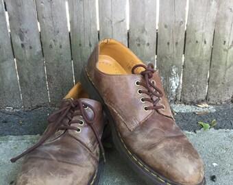 90's Brown Mens Doc Marten Shoes 12