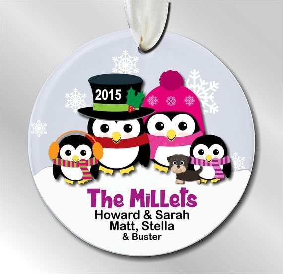 Family of 4 personalized christmas ornament family of 4 for Family of 4 christmas ornament
