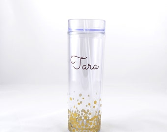 Personalized Tumbler Cup  - Personalized Tumbler - Tumbler Cup with Straw - Tumbler
