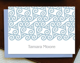 Personalized Stationery / Personalized Stationary / CELTIC TRISKELE / Custom Personalized Note Card Set - Women's Stationery