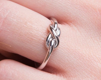 knot ring  Solid gold knot ring  Love knot ring  Gold knot ring  Rose gold knot ring K14 promise ring  Promise ring Bridesmaid ring