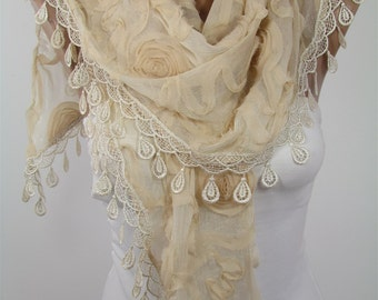Lace Scarf Shawl Spring Fashion Scarf Wedding Scarf Boho Women Fashion Accessories Christmas Gifts For Her Mothers Day Gift For Mom Grandma