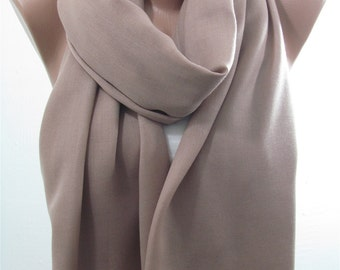 Pashmina Scarf Shawl Fall Winter Cowl Scarf Taupe Infinity Scarf Brown Circle Scarf Women Fashion Accessories Holiday Christmas Gift For Her