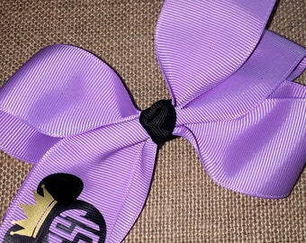 Adorable Queen Minnie Bow -  5 inch bows on 1.5 inch ribbon