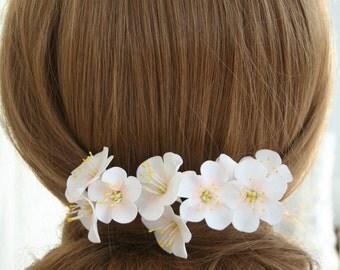 Apple blossom Hair Pin, bridal hair flower, bridal flower hair pin, wedding flower hair pin, wedding hair flower, bridal hair accessory