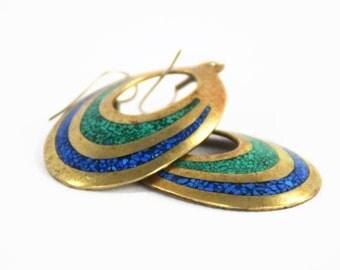 Boho Rustic Earrings - Boho Earrings - Everyday Earrings - Rustic Earrings - Turquoise Earrings - Hippie Earrings - Dangle Earrings - Mexico