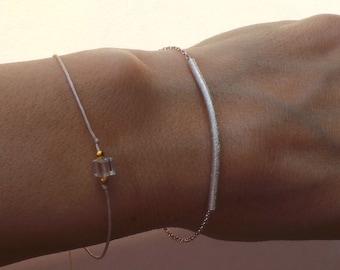 Sterling silver bar bracelet. Minimalist bracelet. Bar bracelet. Sterling silver bracelet. Silver bar bracelet.
