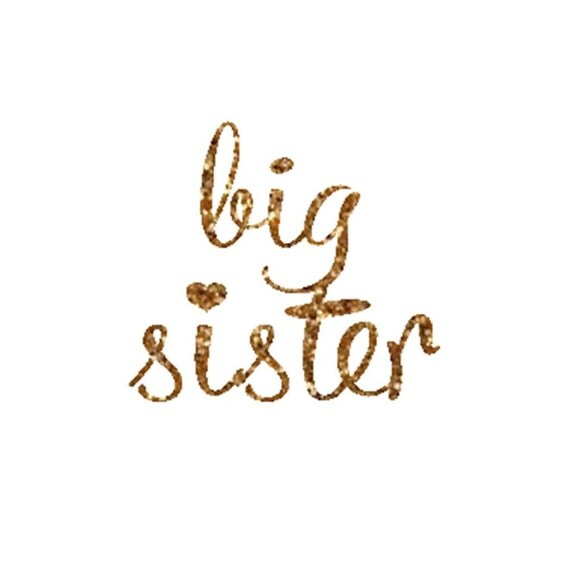 items similar to big sister iron on decal glitter iron on letters diy big sister iron on on etsy