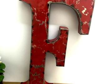Large Metal Letter F