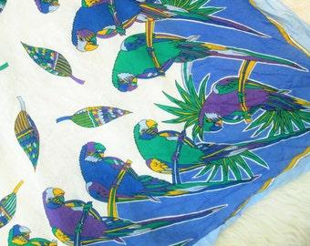 Vintage Parrot Scarf