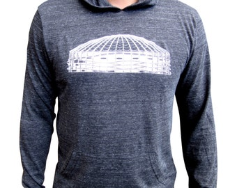 Mens Kingdome hoodie. Alternative apparel. Light weight pullover hoodie.