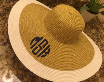 Personalized Straw Hat - White - Straw Hat - Fall Wedding