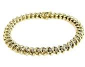 14k Diamond Tennis Bracelet 4.20 ctw 18g Gold
