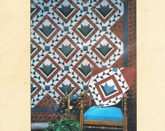QUILT PATTERN - Blooming Vine Queen Size Quilt or Wall Hanging Quilt Pattern - Pieced Quilt Pattern - Not a PDF - Anka's Treasures #ANK982