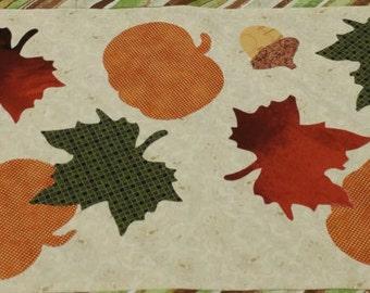 Autumn Leaf Applique - Leaves, Acorn, Pumpkin - 13 pieces