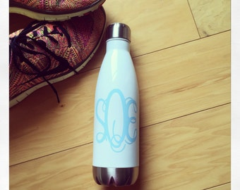 Personalized 17oz Thermal Bottle {White}