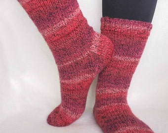 Knitted warm wool socks for women and teens, colorful knitted socks