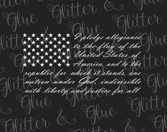 Pledge of Allegiance Flag SVG File