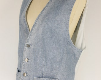 Jean vest and lace Size XL