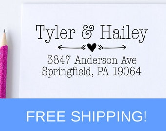 Return Address Stamp, Personalized Address Stamp, Self Inking Address Stamp, Custom Address Stamp, Wedding Gift  (D188)