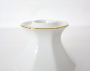 """custom order - candle holder """"Chitins Gloss"""" vintage porcelain handpainted with ants"""