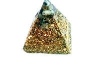 Cheops Piramidón-Dorado-Magic-base Orgonite multigemas-only exclusive-crafted