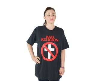 Vintage 90s Bad Religion Shirt | Black Back to the Known T-Shirt | Size XL | 1990s Punk Band Tee Shirt | Oversized Grunge Style