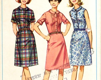 Simplicity 6435  Misses One Piece Dress Sewing Pattern