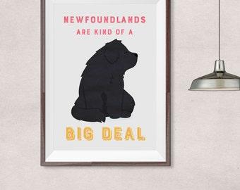 Newfoundland dog • newfoundlands are kind of a big deal poster