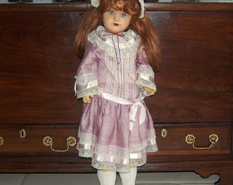 Antique Vintage Walking Toddler Doll With Sleeping Eyes - 1950's