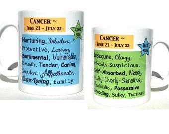 Cancer zodiac coffee mug, astrology gifts, christmas gift, cancer gifts, astrology mug, zodiac mug, birthday gift, birthday mug, gift ideas