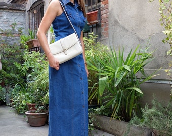 Vintage jean dress, buttoned, 90s, size 36 ( 6 US, 8 UK)