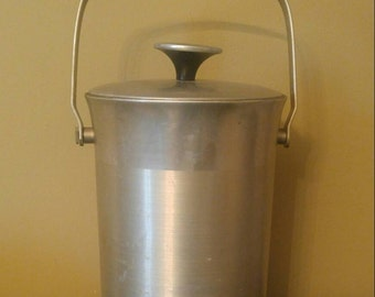 Vintage Aluminum Ice Bucket B-509 Made in Italy