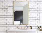HOLLYWOOD Wall sconce lamp light in industrial restoration minimal style edison vanity mirror bathroom gold bronze
