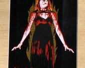 Carrie Vinyl Sticker 3 in x 4 in