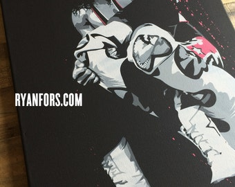 Bret Hart Stencil Painting