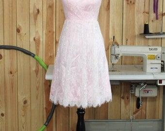 Lace Bridesmaid Dress, One shoulder Lace Bridesmaid Dress, Lace Weddin Dress, Lace Prom Dress, Wedding Party Dress