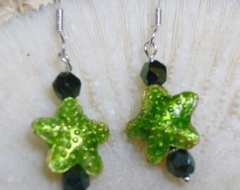 Key Lime StarFish Earrings