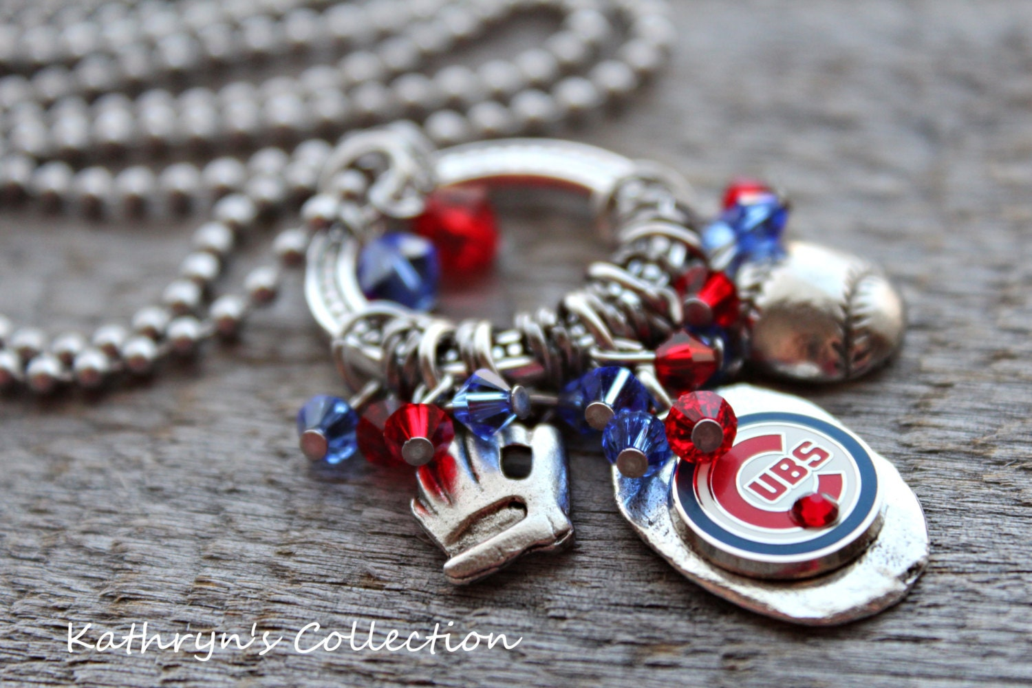 chicago cubs necklace chicago cubs jewelry