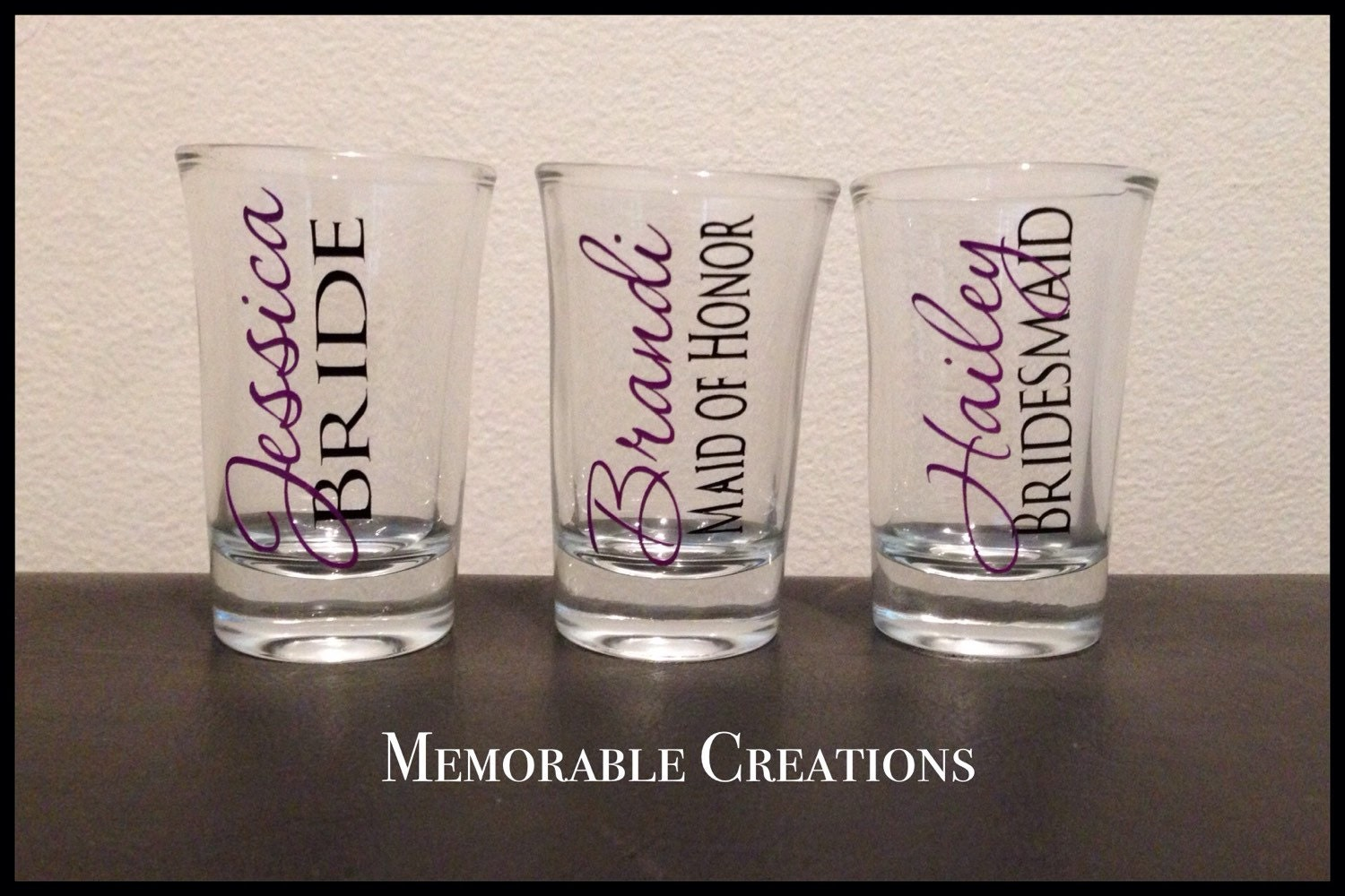 fast shipping personalized wedding shot glasses for bridal