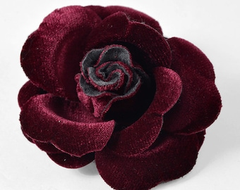 "3-1/2"" Black Velvet Flower Pin by 1 pc, FL-VELVET"
