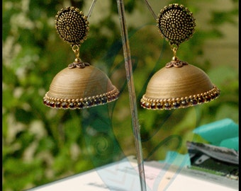 Copper Gold Traditional (paper) jhumka