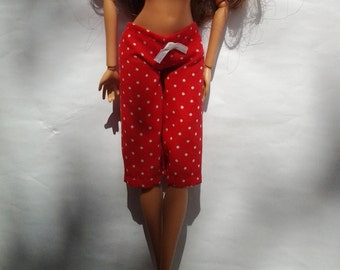 Handmade cropped trousers - clothes for your pretty Barbie doll