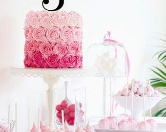 "Number Birthday Cake Topper - 4"" Tall Kid's Birthday Cake Topper Childrens Topper"