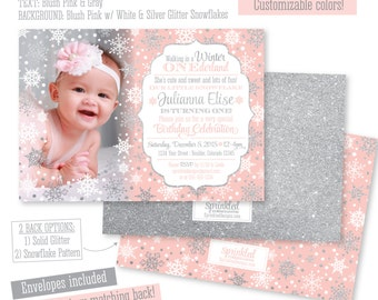 winter onederland invitation etsy - Winter Onederland Party Invitations