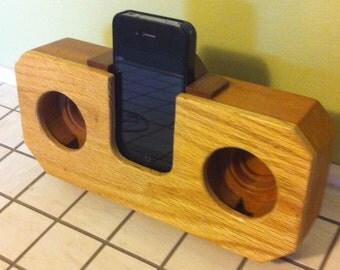 iPhone Wood Speakers Amplifier
