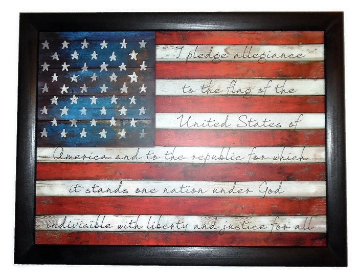 American Flag Wall Hanging american flag the pledge of allegiance patriotic home
