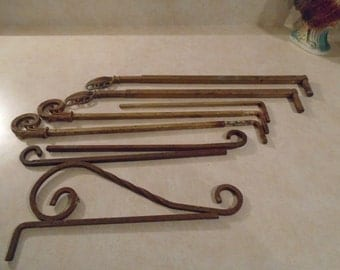 SALE-Vintage/Antique Metal Swing Curtain Rods and Misc.