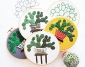 Out of Retirement! - April Prickly Pear Embroidery Pattern PDF by Sarah K. Benning